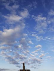 Cloud Factory (CoolMcFlash) Tags: sky cloud factory building architecture negativespace copyspace minimalistic minimalism minimalistisch humor vienna canon eos 60d blue himmel wolken fabrik gebäude architektur wien blau fotografie photography tamron b008 18270 cloudscape weather wetter