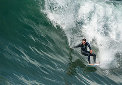 Feeling The Moment (Ron Drew) Tags: nikon d800 huntingtonbeach california surfcity usa summer surfer guy wave pacificocean ocean crest athlete sport board wet surfboard