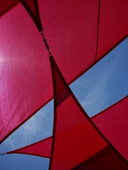 Red (Snarfff) Tags: sun fabric awning red