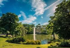 El Retiro: Palacio de Cristal (por Sergio Núñez) Tags: retiro palacio cristal nikon tokina angular verde lago fuente cielo luz madrid turismo
