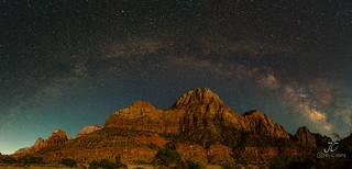 Milky Way rainbow over Zion