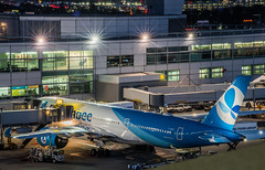 french bee flight bf711 arriving from papeete, tahiti (pbo31) Tags: bayarea california nikon d810 color july 2018 boury pbo31 summer night dark black over blue sanfranciscointernational sfo airport travel aviation terminal millbrae sanmateocounty frenchbee gate airbus plane airline papeete tahiti southpacific a330