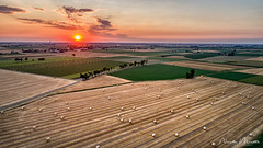 Field (nicolamariamietta) Tags: sunset sun cloudy field sky landscape fields countryside oltrepopavese italy colors summer nature dji phantom4pro aerial drone hay bales nobody golden hour voghera lombardia italia it