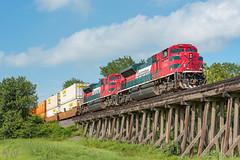 Tex-Mex (DAL3294 (Ryan N.)) Tags: ferromex sd70ace railfan bridge