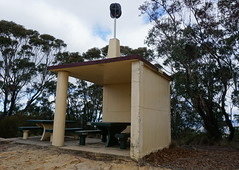 Trig station and shelter shed (spelio) Tags: mt victoria nsw blue mountains australia winter bushwalk hike