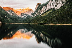28/30 2017/07 (halagabor) Tags: nikon d610 manualfocus nature naturelove outdoor forest green trees water austria landscape sunset sundown colorful gosau gosausee lake mountains mountain alps dachstein reflection summer evening nikkor