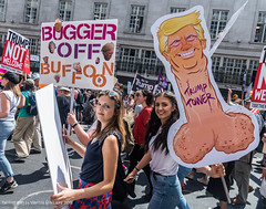 Anti-Trump Carnival of Resistance, central London July 13th 2018 (pixiemushroom) Tags: donald trump london carnival resistance march demonstration nikon d750 sigma 2470mm 28 f28 july 13 2018 demo