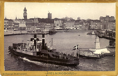 helsingborg (Leifskandsen) Tags: old vintage helsingør ferry railway sweden travel 1920 camera scanned scandinavia water coast boat ship train traffic transport skandsenimages