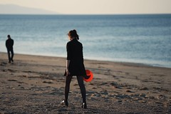 red (raisalachoque) Tags: 7dwf landscape silhouette alone sunset walking girl sea sky sand beach seashore seascape frisbee red