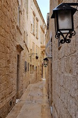 Malta Streets (Douguerreotype) Tags: window lantern city buildings malta architecture door