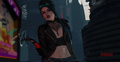 Would you like a fag? (Diavkha) Tags: femboy boy male man androgynous genderbender flatchest gay effeminate feminine girly girlyboy trap drag cyberpunk sexy cute naughty kinky futuristic scifi secondlife second life avatar photography sultry enticing smoking