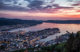 Bergen @ Sunset in Norway