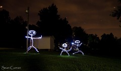 Alien family (quotography513) Tags: d5100 nikon longexposure figures dark northcarolina climax nightphotography outdoors light led lightpainting