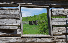 Luther Taylor Homestead (walkerross42) Tags: shane movie log cabin luthertaylor homestead window abandoned grandteton nationalpark ruin