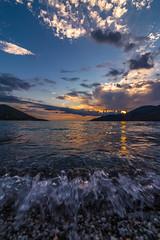 Sunset (Vagelis Pikoulas) Tags: sun sunset waves wave sea seascape landscape summer 2018 june porto germeno greece europe tokina 1628mm canon 6d sky clouds cloudscape