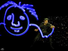 Quim Moya by DKL 2018 (Frodo DKL) Tags: light painting lightpainting lp lightgraff children darklight dkl lightart art artist frodoalvarez herramientas hlp paradise longexposure long exposure larga exposición largaexposición retrato portrait speedpainting