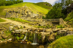 A perfect location to have my picnic. (Ian Emerson) Tags: northyorkshire thisisyorkshire waterfall river bridge dales hills england landscape water rocks outdoor canon coast2coast break keld