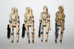 battle droid left to right clean shot sliced dirty versions star wars episode 1 the phantom menace collection 1 basic action figures 1999 hasbro b (tjparkside) Tags: battle droid left right clean shot sliced dirty versions star wars episode 1 phantom menace collection basic action figures 1999 hasbro droids one tpm figure version variant variants backpack blaster pistol pistols blasters trade federation army foot soldier soldiers commtech chip display stand base roger