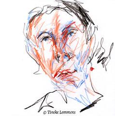 Scribble-portrait 11 (Tineke Lemmens) Tags: tinekelemmens portraits colored pencils