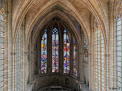 ... (Jean S..) Tags: church religion windows colors indoors old ancient