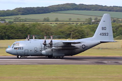 USN Herc (164993) (Fraser Murdoch) Tags: prestwick international airport egpk pik air force armed canforce can united states navy nas jrb willow grove glasgow runway 30 aviation military aircraft plane cargo transport transporter c130t c130 hercules c17 cc177 globemaster canada america usn