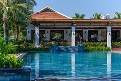 Poolside at The Anam Resort (Merrillie) Tags: holidays pool nhatrang restaurant water tourist vietnam overseas camranh holidaying travel relaxing swimmingpool theanam resort winterescape tourism tropical theanamresort