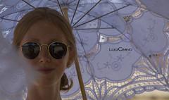 Tourist in Sicily (luigicimino69) Tags: templi agrigento tamron7020028 sicilia turisti persone biancoenero ombrellino occhiali donna ragazza cielo mare sole