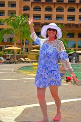 Lori Around the Pool (Kirt Edblom) Tags: loreto loretomexico mexico islandsofloreto villadelpalmar vacation vdp resort seaofcortez spa wife gaylene milf loriford aroundthepool bcs baja bajacaliforniasur pool swim swimming swimmingpool friends
