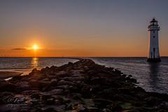 Breakwater Sunset (keithbellis) Tags: purple newbrighton wallasey merseyside rivermersey wirral sunset lighthouse perchrock