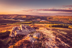Sunset over Peak District (tbnate) Tags: tbnate nikon nikond750 d750 derbyshire bamford winhll win hill hills peak peakdistrict district trees landscape longexposure sunset clouds heights rocks sky outdoor outside water reservoir ladybower ladybowerreservoir tamron tamron1530 ultrawideangle ultrawide