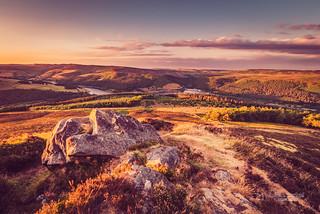 Sunset over Peak District