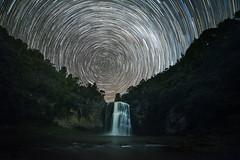 Star Trails at Hunua Falls (tomoyaosa) Tags: falls startrail astrophotography astroscape auckland newzealand hunua night landscape longexposure milkyway