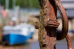 When The Rust Is All Ya Got (jah32) Tags: stmartins harbour harbor harbours anchor marine maritime rust rusty newbrunswick canada lowtide bayoffundy bokeh boats boat fishingboat fishingboats workingboats closeup closeups