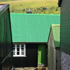 Green roof (mikael_on_flickr) Tags: greenroof green grøn grün vert erde roof tetto tag gjógv føroyar færøerne faroeislands isolefaroe houses case
