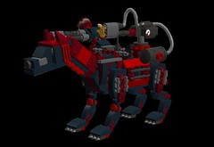 SE85SNA3xEpicyon-Mech2 (demitriusgaouette9991) Tags: lego military army ldd armored animal powerful epicyon deadly droid mecha flames runner robot