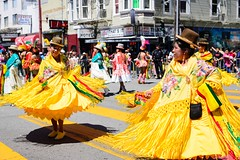 Bolivian Dancers (thedailyjaw) Tags: sanfrancisco themission sf bayarea carnaval bolivian bolivia music parade streetphotography festival nikon d610 colors streetperformers dress