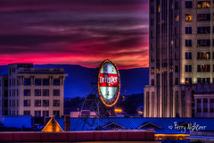 Sultry Sign - Dr. Pepper Roanoke (Terry Aldhizer) Tags: sultry sign dr pepper roanoke city virginia twilight sunset hot june evening terry aldhizer wwwterryaldhizercom