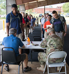 4th Regiment, Advanced Camp, Cadet Arrival (armyrotcpao) Tags: madison thompson cadetcommand usa usarmycadetcommand usarmy cadet summer training cst cst2018 arrival arrived processing 4th regiment advanced camp pack ruck brief work packing list