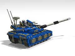 o7 commando tank finished2 (demitriusgaouette9991) Tags: lego military army ldd armored tank turret powerful vehicle railgun deadly