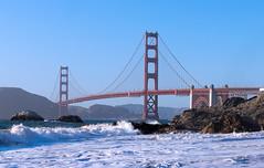 The Golden and the Pacific (Braulio_V) Tags: golden gate goldengate bridge sea san francisco sanfrancisco