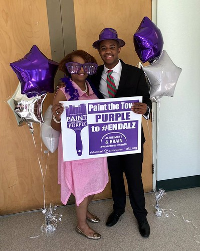Painting the town purple. Let's do our part to help end Alzheimer's. #ENDALZ