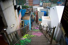 Gamcheon Culture Village, Busan (buddhistfunk) Tags: south korea korean koreans asia asian asians colorful color colourful colour rok urban street busan houses architecture art artwork painting paintings mural murals graffiti photography streets