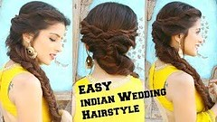 EASY Hairstyle For Indian Wedding Occasions For Medium and Long Hair   knot me … (nididchy) Tags: hairstyles for medium length hair short long school millennial viking beard l mens fashion style jewelry i tattoos sunglasses glasses sensod   diy home decor mehndi designs pallets health hairstylecom try haircuts