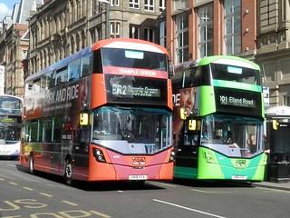 First Bus Leeds  35304 & 35308 / SN18 XYA & SN18 XYE.