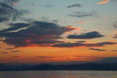 Nicht mehr lange ... (michaelschneider17) Tags: griechenland ionisches meer reisen morgens natur morgenrot farben