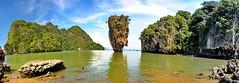 Khao Phing Kan/James bond island pano. (meren34) Tags: thailand jamesbond phang nga bay koh pin ghan pukhet travel movie island sea таиланд タイประเทศไทย tailandia 泰国 تايلند panoramic