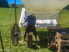 An Ancient Blacksmith at Work. (Meon Valley Photos.) Tags: chalke valley history festival an ancient blacksmith work ngc