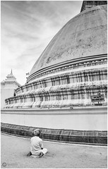 """God speaks in the silence of the heart. Listening is the beginning of prayer."" - Mother Teresa (Ramalakshmi Rajan) Tags: people worship srilanka temples temple stupa prayer blackandwhite blackwhite nikon nikond5000 nikkor18140mm bw quotes"