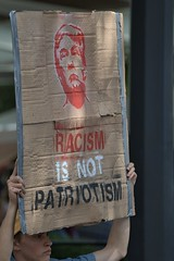 Racism Is Not Patriotism (Scott 97006) Tags: sign racist political trump protest