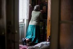 Mima,May 2015 (esztervaly) Tags: portrait portraitphotography portraiture portraitwoman portraitmood portraits woman womanportrait oldwoman grandmother grandmotherportrait pray room door naturallight